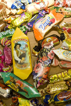 Large selection of candies and chocolates