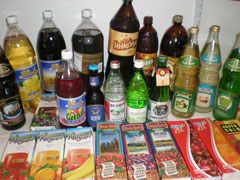 Large selection of Imported Drinks